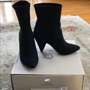 Black suede urban outfitter boots